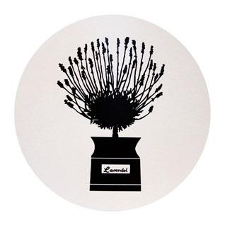 herb garden heat proof mat in black & white