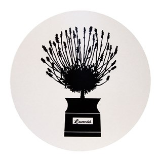 herb pot swedish retro b & w trivet