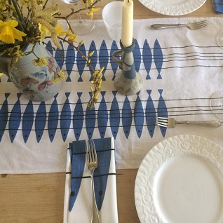 herring sil swedish traditional table setting