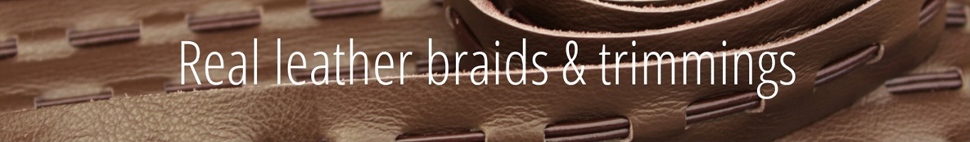 real leather interior braids and trims
