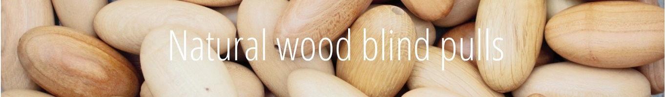 natural wood window roller blind pulls
