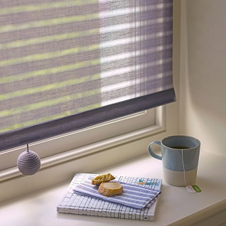 organic cotton blind fabric with cable pull