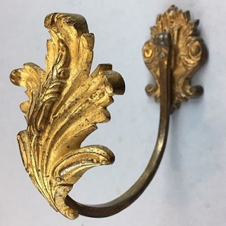 ormolou metal curtain holdback from 1900