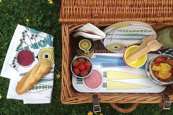 swedish Picknick items on summer picnic