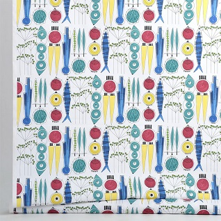 picknick cotton scandi retro fabric