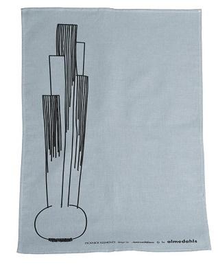 picknick element tea towel in light blue