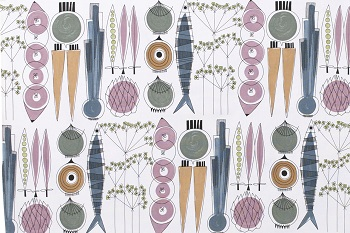 picknick fabric in blossom & sage new colourway