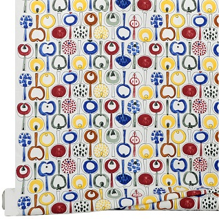 pomona retro scandi apple print