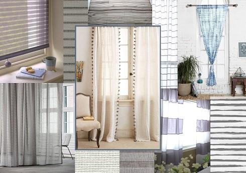 new house textiles sheer stripes 1