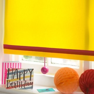 solo yellow roller blind