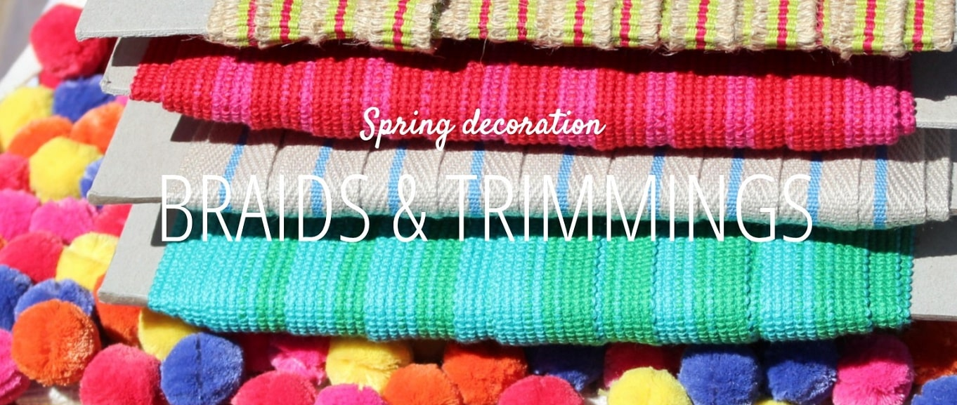 spring decoration braids and trimmings
