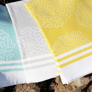 set of asha kitchen tea towels