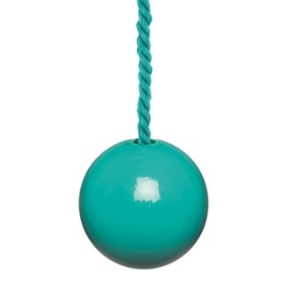 turquoise bobbi ball bathroom light pull