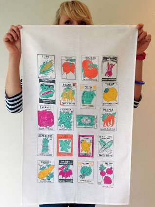 vegetable gardener kitchen tea towel