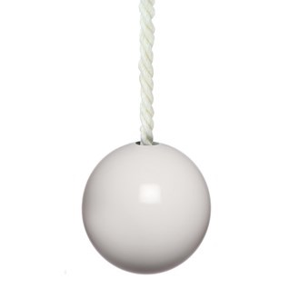 gloss white bobbi ball bathroom light pull