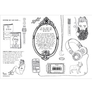 The hipster & passive aggressive colouring book gift set