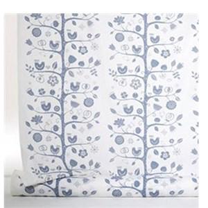 birdsong fabric - white & blue