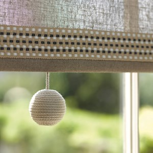 rope coloured cotton wrapped 43mm ball decorative nautical cable window blind pulls