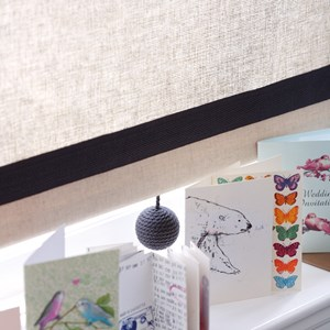 slate grey coloured carpet ball boule textile modern elegant wool window roller blind pull