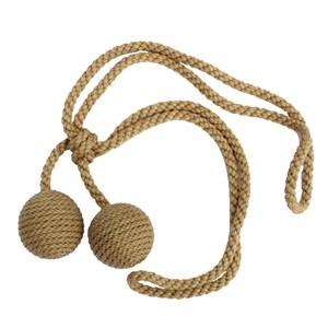 small carpet boule tieback - pecan