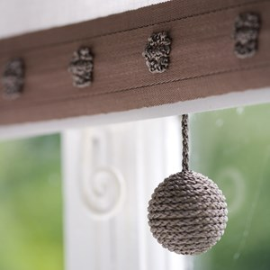 gorgeous mink coloured classy charleston window blind pull with shiney texture