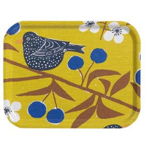 cherry orchard small tray - mustard