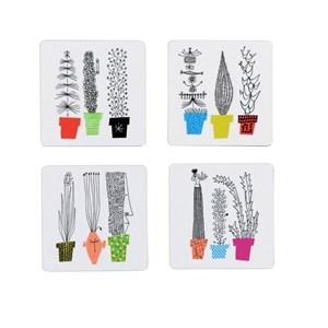 crazy pots coasters,Olle Eksell coasters, Italiensk blomsterhylla coaster, flower pot coaster