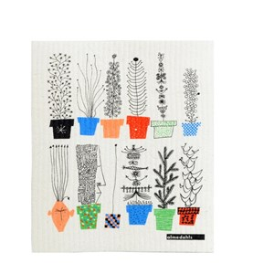 crazy pots sponge cloth, Olle Eksell Italiensk blomsterhylla cleaning cloth, flower pots cleaning