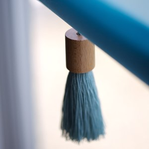 bargain window blind pull in duck egg blue sway tassel in reduced price pull
