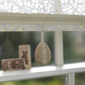 glitter egg window blind pull in glamorous shimmering gold