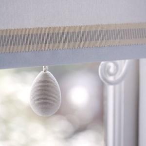 glitter egg window blind pull in glamorous shimmering silver