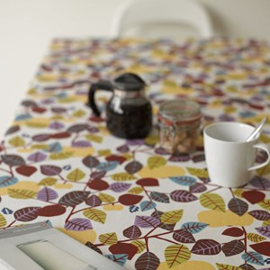 golden orchard by Victoria Mollgard is swedish vintage design printed on oil cloth to protect your t