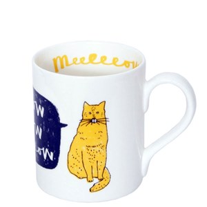 meow cat mug of cat saying meow by charlotte farmer a perfect gift for cat-lovers