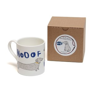 wooof sausage dog mug