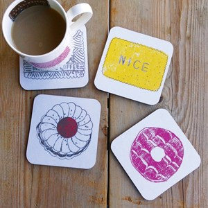 family favourites buscuit mug and coaster gift set,by charlotte farmer
