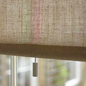 herringbone bone china blind pull - saville grey
