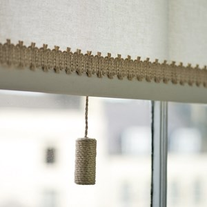 natural jute cylinder elegant window roller blind pull in flax
