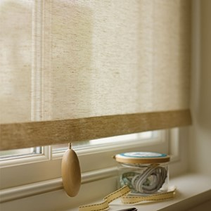 wooden pebble roller blind pull shaped individually like a pebble and made in cornwall