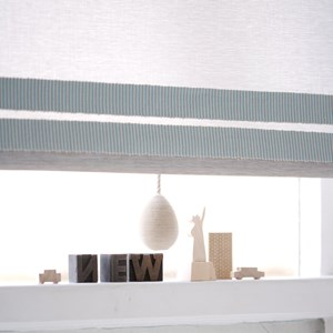 beautiful mushroom brown colour linney egg shaped window roller blind pull wrapped textile pull