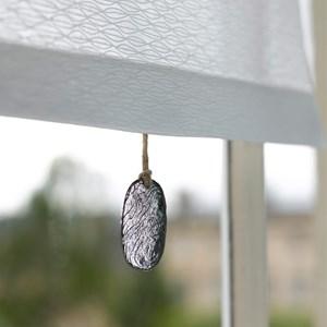 silver seaside pebble roller blind pull in traditional pewter metal
