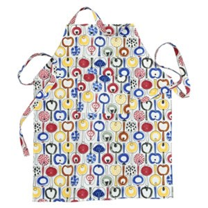 pomona apron by marainne westman, a vintage 1960's large apron featuring retro swedish apples for ki