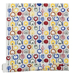 pomona cotton fabric by marainne westman is a vintage 1950's print featuring retro swedish apples fo