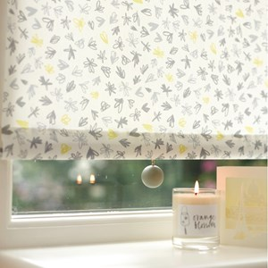 puddle grey hand painted lewes wood ball roller blind pull