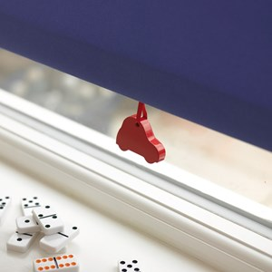 red car kids spring roller blind pull for boys and child safe