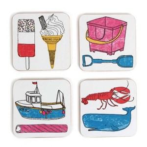 seaside fun coasters