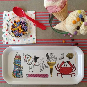 seaside fun drinks tray