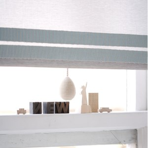 pastille striped trim - silver frost