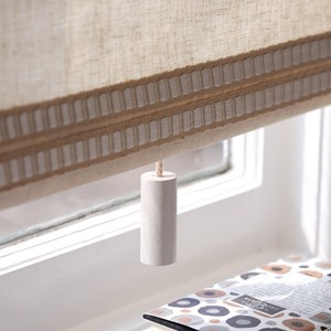granola colour spinone cylinder quality interior window roller blind pull in painted natural beech w