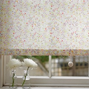 vintage white hand painted lewes wood ball roller blind pull