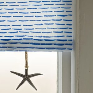 silver starfish roller blind pull in traditional pewter metal